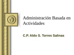 Administración basada en actividades