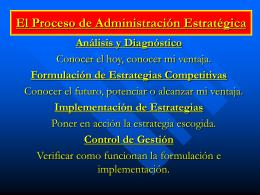 Administración estratégica de empresas