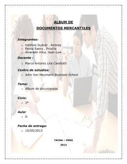 Album de documentos mercantiles