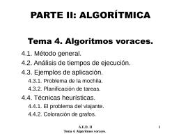 Algoritmos voraces