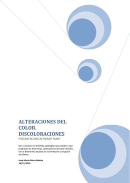 Alteraciones del color