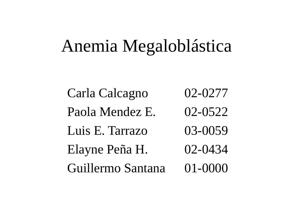 Caso Clinico Anemia Megaloblastica Epub