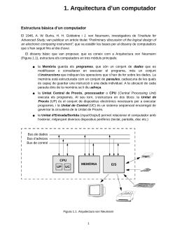 Arquitectura d'un computador