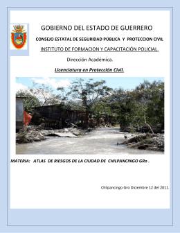 Atlas de riesgos de la ciudad de Chilpancingo