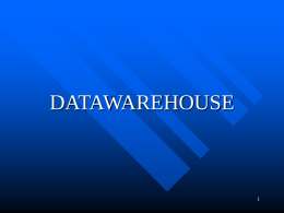 DATAWAREHOUSE 1