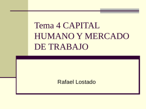 Capital humano y mercado de trabajo