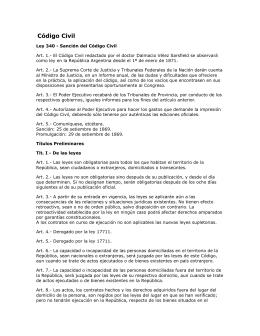 Código Civil de Argentina