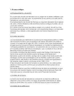 Comentario del plano de Alcalá de Henares