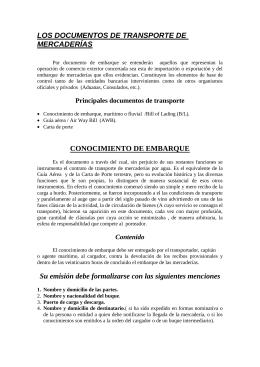 LOS DOCUMENTOS DE TRANSPORTE DE MERCADERÍAS