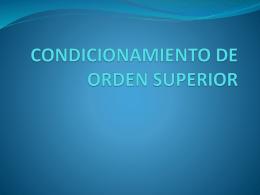 Condicionamiento de orden superior
