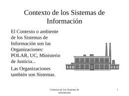 Contexto de los Sistemas de Información