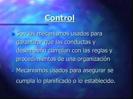 Control de eficacia empresarial