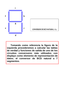 Conversor de BCD (Binary-Coded Decimal) natural a siete segmentos