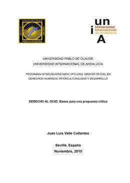 Derecho al ocio: Bases para una propuesta crítica
