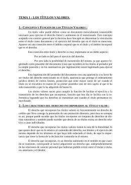 TEMA 1 : LOS TÍTULOS VALORES.  1.- C