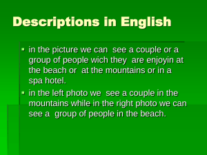Descriptions in English