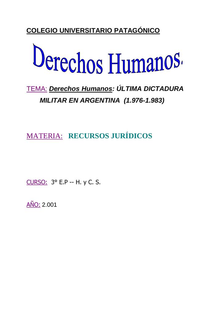 Dictadura militar en Argentina