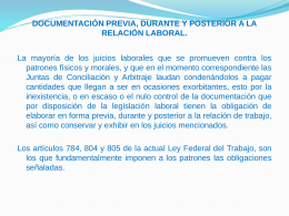 Documentación relaciones laborales