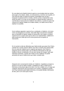 El Manuscrito Calderón; José Calvo Poyato