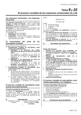 El proceso contable de las empresas comerciales (I) y (II)