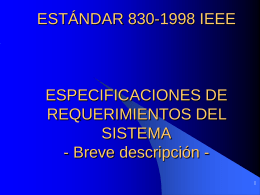 Estándar 830-1988 IEEE (Institute Of Electrical and Electronics Engineers)
