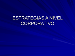 Estrategias a nivel corporativo