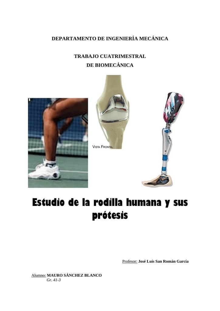 Estudio de la rodilla humana y sus prótesis