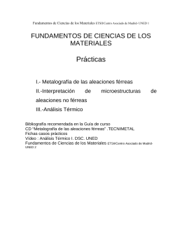 Fundamentos de Ciencias de los materiales