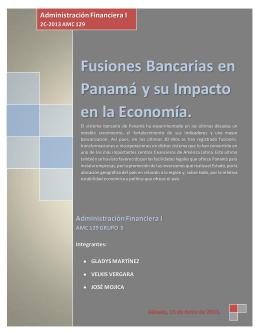 Fusiones bancarias en Panamá e impacto en la Economía