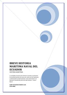 Historia marítima naval de Ecuador