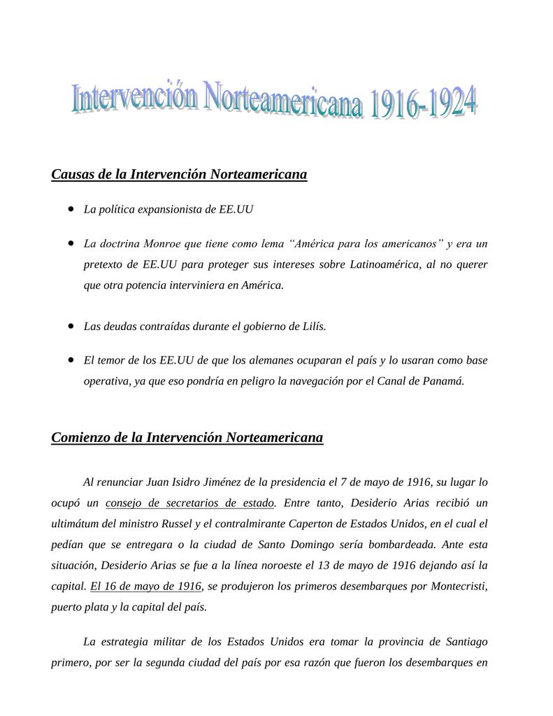 Intervención norteamericana en República Dominicana
