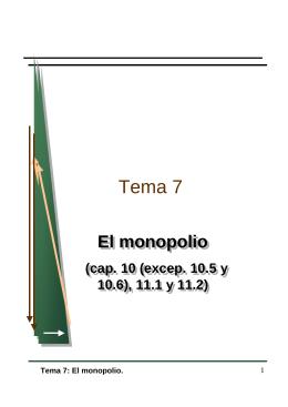 Introducción a la microeconomía: Monopolio