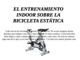 La bicicleta estática