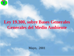 Ley 19300 sobre Bases Generales Generales del Medio Ambiente