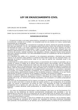 Ley de Enjuiciamiento Civil de 7 de enero de 2000