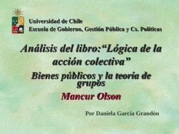 Lógica de la acción colectiva; Mancur Olson