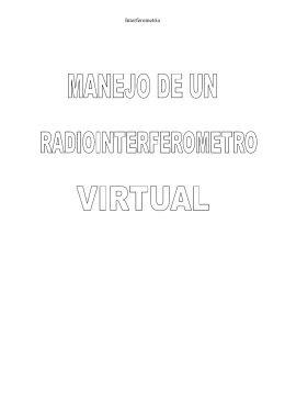 Manejo de un radiointerferometro virtual