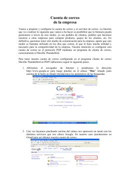 Manual de creación y utilización de cuentas de correo electrónico