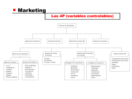 Marketing Las 4P (variables controlables)