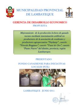 Mejora d ela leche del ganado mediante inseminación artificial