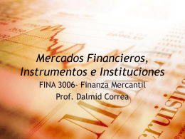 Mercado financieros