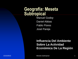 Meseta Subtropical Argentina