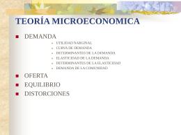 TEORÍA MICROECONOMICA DEMANDA 