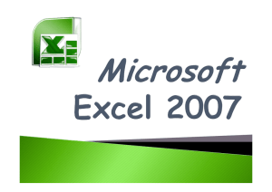 Microsoft excell 2007
