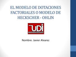 Modelo de dotaciones factoriales