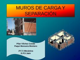 Muros de carga y separación