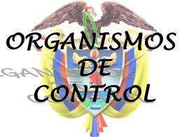 Organismos de control colombianos