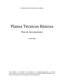 Plan de Enrutamiento