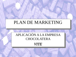 Plan de márketing: empresa de chocolates