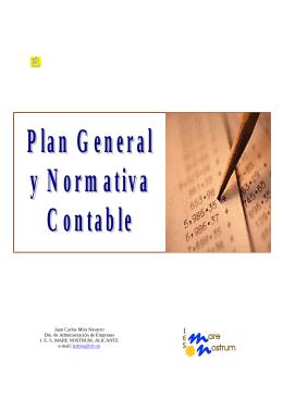Plan general y normativa contable